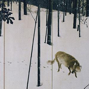 木島桜谷《寒月》 Winter Moon