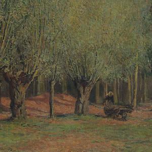 浅井忠《グレーの柳》 Willow Trees in Grez-sur-Loing, France